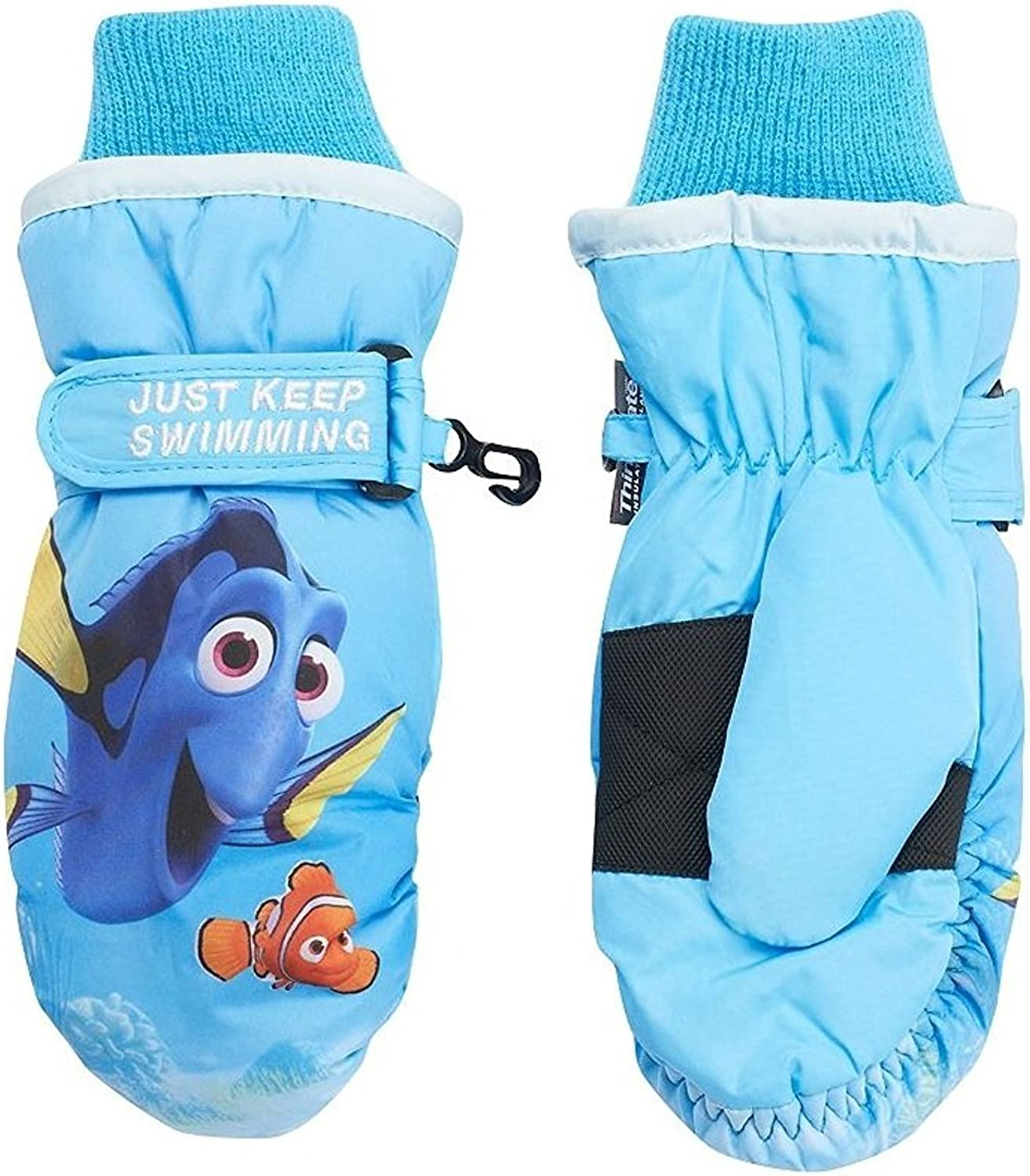 Girls Child Finding Dory Thinsulate Snow Ski Mittens ages 4 to 8