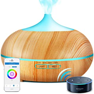 Sunfuny 500ml Smart Wifi Essential Oil Diffuser, 9 IN 1 Ultrasonic Aroma Diffuser Aromatherapy Humidifier Fragrance Vapori...