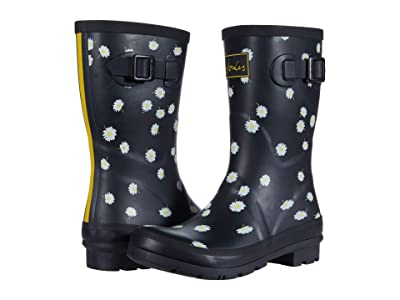 Joules Molly Welly (Black Daisy) Women