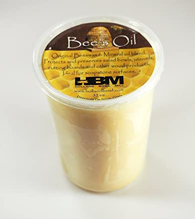 Bee's Oil Salad Bowl & Wood Conditioner - 32 Oz. Tub - Food Safe - Holland Bowl Mill