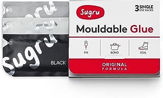 Sugru I000474 Original Formula-Black, White & Grey 3-Pack Mouldable Glue, 3 Piece
