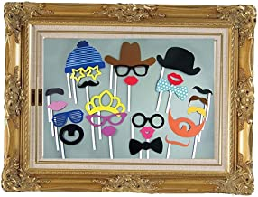 Alencon - Large Picture Frame 24 Fun Photo Props Booth Wedding Decoration Hen Do Party Selfie Game Decor - Tiara Bridal I Frame Photobooth Hen Party Booth Frame Wedding Photo Bachelorett Photo