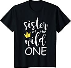 Kids Sister Brother King Queen of Wild One 1st Birthday Boho Tee