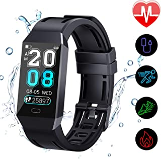 FYLINA Fitness Tracker HR, Activity Tracker Watch with Heart Rate Monitor and Sleep Monitor, IP67 Waterproof Smart Bracelet with Step Counter, Calorie Counter, Stopwatch, Pedometer for Men Women Kids