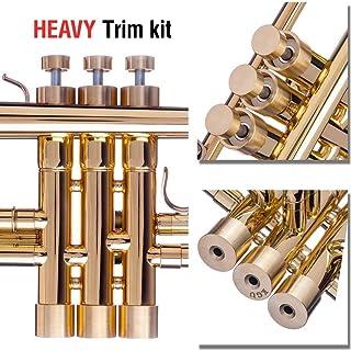 Trumpet Trim Kit for all Jupiter for improving the sound Custom made KGUBrass Trumpet caps (MEDIUM, Raw Brass)