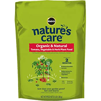Miracle-Gro Nature's Care Organic & Natural Tomato, Vegetable & Herb Plant Food, 3 lbs.