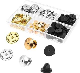 Pin Backs, Selizo 84pcs Locking Pin Backs Lapel Push Pin Keeper Blank Pin Locks for Disney Pins, Lapel Pins, Enamel Pins, ...