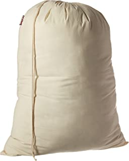 LA Linen 100% Cotton Extra Large Muslin Draw String Laundry Bag 28 by 40-Inch High. Pack 1