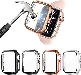FITA [4 Piezas] Protector Funda Compatible con Apple Watch Series 6/5/4/SE 40MM Reloj,PC Case Protector De Pantalla Crista...