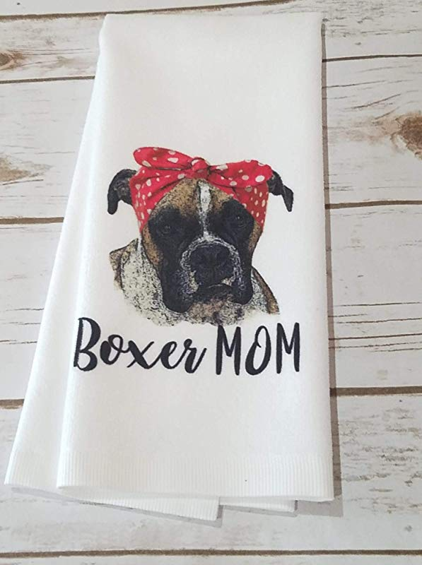 Boxer Mom Kitchen Bathroom Hand Towel Home Decor