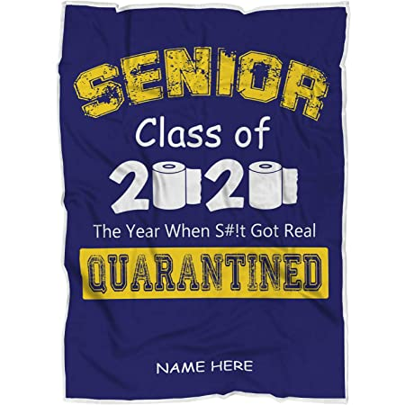 Senior Class of 2020 Quarantine Hooded Blanket Soft Warm Wearable ...