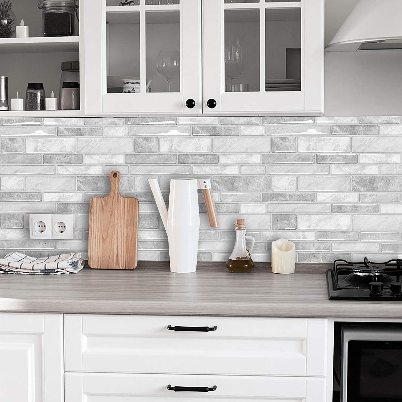 Buy Peel and Stick Tiles Kitchen Backsplash Decorative Wall Tile ...