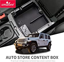 SMABEE Car Armrest Box Interval Storage for Toyota Tacoma 2016-2019 Storage Console Tidying Box Black Central Storage Box
