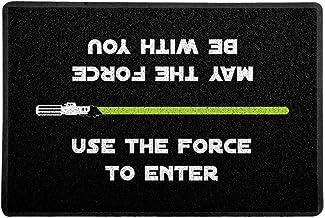 Capacho/Tapete 60 x 40 cm - Use the Force, Preto, Beek Geek's Stuff