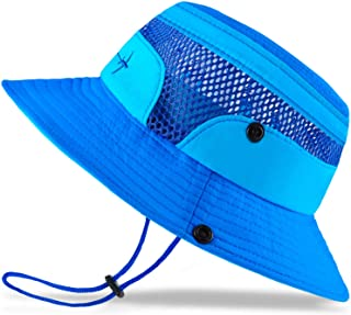 Baby Sun Hat Toddler Sun Hat Kids Breathable Bucket Sun Protection Hat   Adjustable, Stay-on Chin-Strap, Summer Play