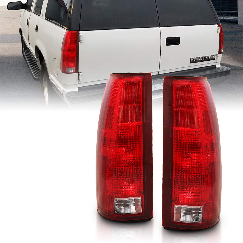 AmeriLite Replacement Tail Lights Pair for 1988-1999 Chevy//GMC Fullsize Driver and Passenger Side C//K Silverado Tahoe Sierra Suburban Rear Brake Lamp OE Type Pair