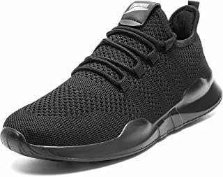 AZSDXS Men Running Trainers Lightweight Walking Shoes Fashion Breathable Jogging Athletic Sneakers Casual Breathable Gym T...
