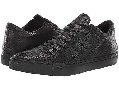 John Varvatos Collection Reed Low Top Laser Cut Snake Sneaker (Black) Men