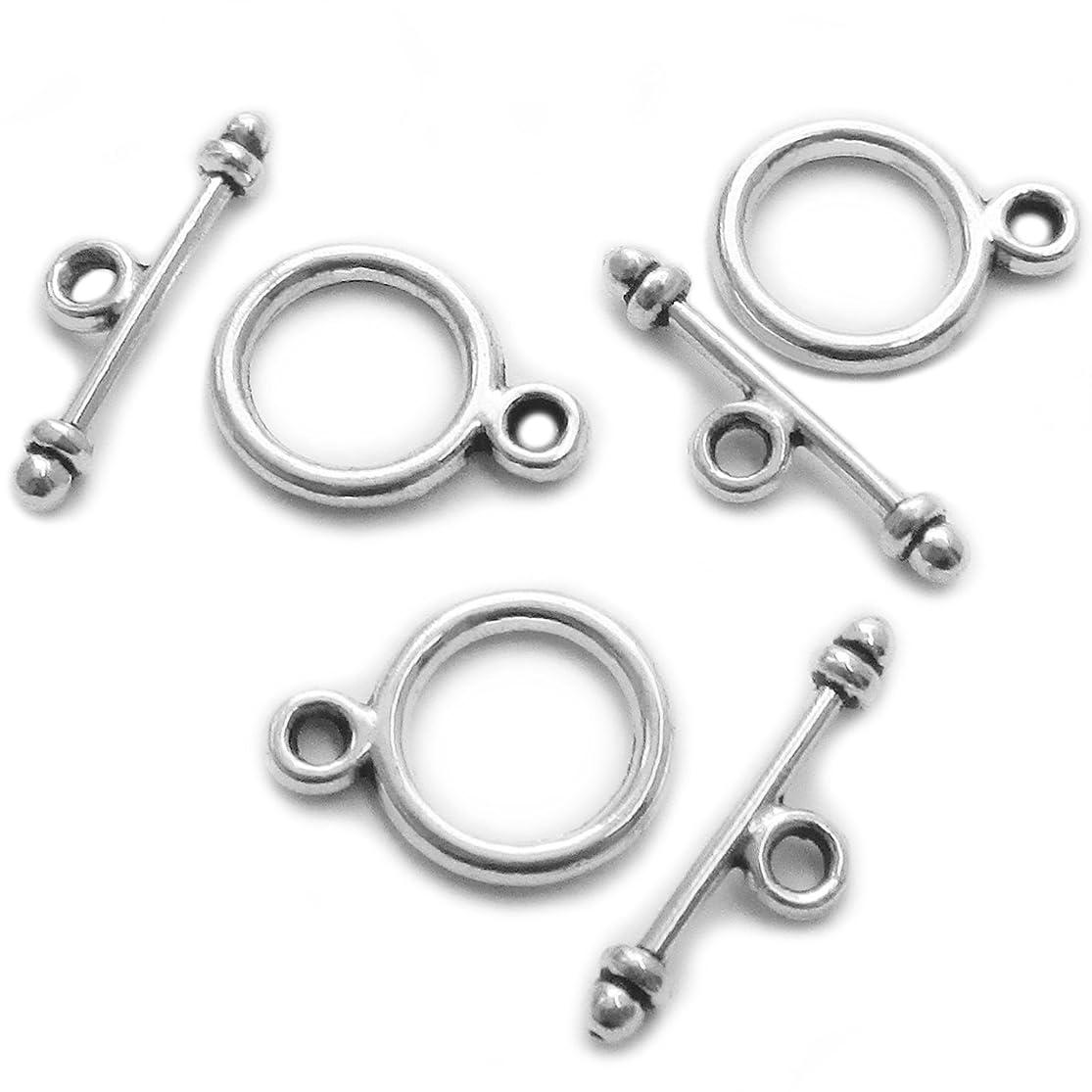 Heather's cf 130 set Toggle Jewelry Clasps Necklace Toggle Clasp Silver Toggle Clasps for Jewelry Making kvnnyqwb7