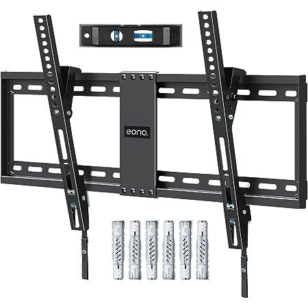 Amazon Brand - Eono Soporte TV Pared Inclinable, Soporte de Televisión para Muchos 37-70 Pulgadas LED, LCD, OLED y Plasma Televisores de hasta VESA 600x400mm y 60kg, con Tacos Fischer, PL2268-LK