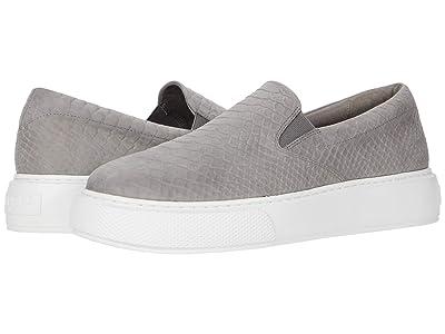 J/Slides Delia (Grey Embossed Leather) Women
