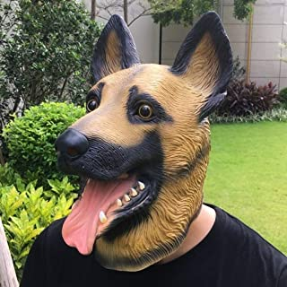 QYLOZ Full Face Mask Animal Head Mask Latex Cosplay Masquerade Fancy Dress Up Carnival Mask (Color : A)