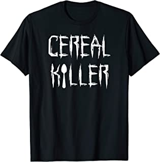 Cereal Killer Funny Spoon Serial Halloween Costume Tee Shirt