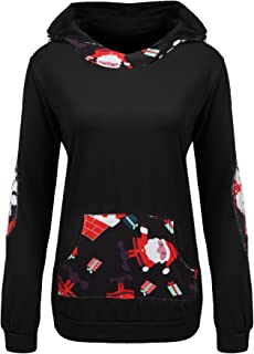 Beyove Women's Printed Sweatshirts Long Sleeve Pullover Hoodies Pocket S-XXL