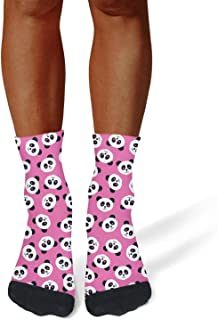 Tasbon Mens All-Season Sports Socks Embroidered Flower Stripe Novelty Athletic Socks