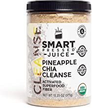 Pineapple Chia Cleanse Fiber | Smart Pressed Juice | Prebiotic Superfood Plant Based Fiber with Vegan Probiotics and Enzymes | Keto-friendly IBS Constipation Relief | MADE IN USA