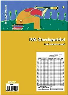 20 x Registro corrispettivi Trade Flex carta chimica 2 parti 12x2 fogli 168512C00 conf da 20 pz.