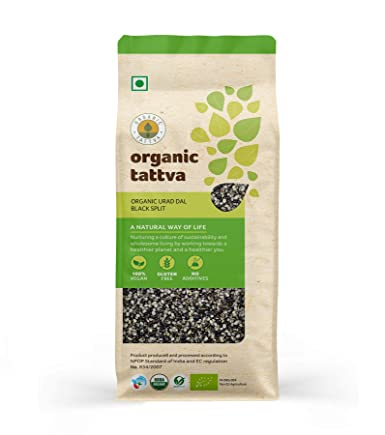 Amazon Com Organic Tattva Urad Dal Chilka Black Split Lentils 500g Certified By Usda Organic Grocery Gourmet Food