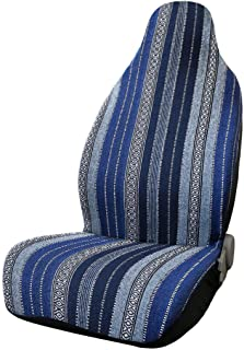 uxcell Universal Seat Cover Universal Durable Bucket Seat Cover for Car SUV Automotive Dark Blue