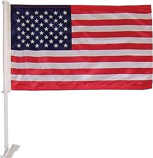 In the Breeze U.S. Flag Car Flag - Double Sided - Hooks onto Car Window