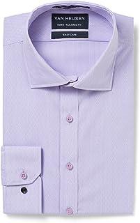 Van Heusen Men's Euro-Tailored Fit Mini Stripe Business Shirt