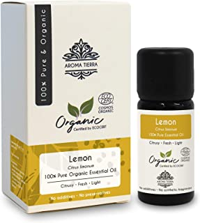 Lemon Organic Essential Oil - Aroma Tierra - Pure, Natural - 10 ml