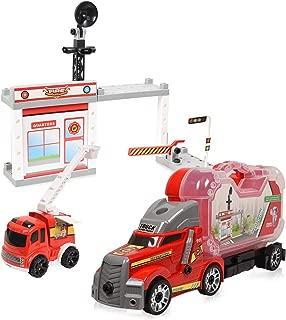 WolVol Take-A-Part Fireman Station - Fireman Command Center Construction Playset w/ Screwdriver for Kids & Children