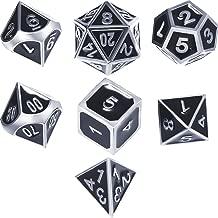 DND Dice Set Bar Dice Set Metal Polyhedral Dice Set 7 Dice Set Metal