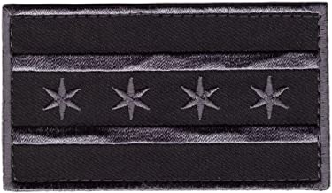 Miltacusa Hook Chicago Subdued Gray Flag Tactical Morale Gear Patch CH02