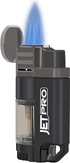 JETPRO Butane Torch Lighter 4 Jet Flames Cigar Lighter Refillable Gas Fuel Butane Lighter with Butane Window