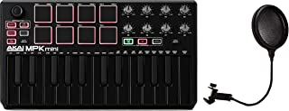 Gator GM-POP FILTER - Pop Filter + Akai Professional MPK Mini mkII 25-key Keyboard Controller - Limited Edition Black on
