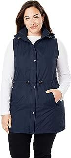 Women's Plus Size Taslon Hooded Vest