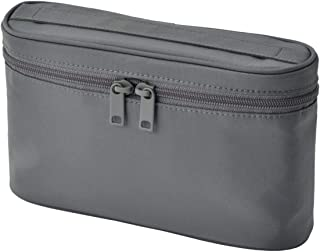 MUJI Nylon Slim Handled Pouch, Gray - 12.5 x 20.5 x 6cm