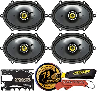 KICKER CS Series CSC68 6 x 8 Inch Car Audio System Coaxial Speakers (46CSC684) 4-Pack and Kicker Swag Bag Bundle. EVC Tech... photo