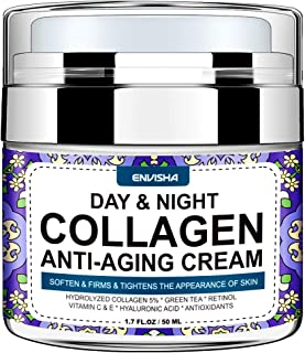 Wumal Collagen Cream - Day and Night Cream for Women & Men - Face Moisturizer with Hyaluronic Acid & Vitamin C, Helps Clea...