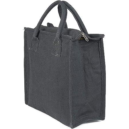 Anshika International Premium Fancy Multipurpose Denim Lunch Tiffin Bag with Bottle Holder for Travel, School, Office - Black