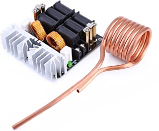 1000W 20A ZVS Low Voltage Induction Heating Board Module Tesla with Coil 12V-48V Flyback Driver Heater DIY