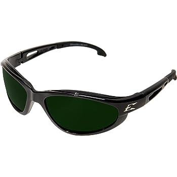 "Edge SW11-IR5 Dakura Wrap-Around Safety Glasses, Anti-Scratch, Non-Slip, UV 400, Military Grade, ANSI/ISEA & MCEPS Compliant, 5.04"" Wide, Black Frame / IR5 Medium Welding Lens"