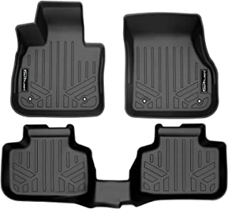 SMARTLINER All Weather Custom Fit Floor Mats 2 Row Liner Set Black for 2016-2021 BMW X1 / 2018-2022 BMW X2