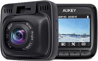 AUKEY Cámara de Coche Full HD 1080P Dash Cam Supercondensador y 170 Grados Gran Ángulo Dashcam con WDR  Detector de Movimiento G-Sensor Loop de Grabación y Cargador de Coche con Doble Puerto
